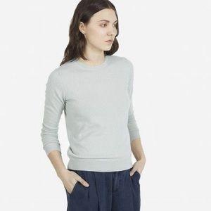 Everlane Cashmere Crew Sweater Fog Pale Blue Sz S